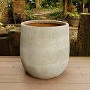 植木鉢 ファイバークレイ ストラMIX 丸型 43×43 ベージュ