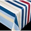 新規 テーブルクロス ブリリアントシリーズ ストライプ ブルー 60757 幅:140cm 10cm単位切売 商品番号:9699724 【送料別】【通常配送】