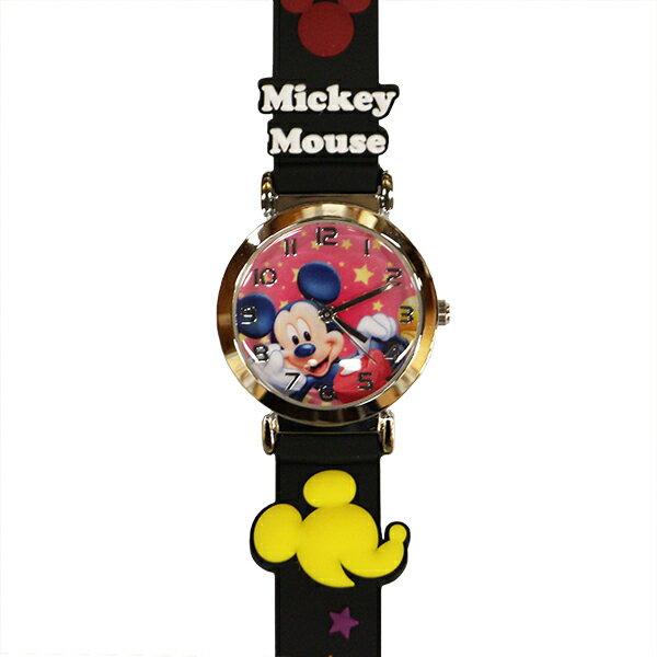子供用腕時計 キッズウォッチ ミッキー ブラック サンフレーム WD-S02-MKB (9961992)【取寄せ商品】【送料別】【通常配送】