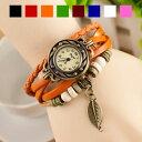 ■腕時計 レディース 時計【アンティーク風腕時計全8色 リーフ】葉っぱ レディー...