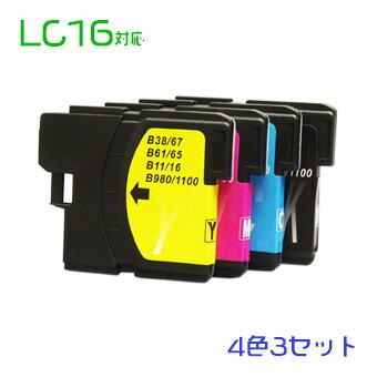 LC16 12個セット(4色×3セット)(LC16BK LC16C LC16M LC16Y) br 互換インク 宅配便無料(沖縄・離島を除く) 10P05Nov16