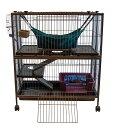 【Marshal Pet】アメリカで人気のフェレットの特化したペットメーカー!フェレットケージ フォールディングマンションS【ラビット ハムスター フェレット うさぎ 鳥かご 鳥ケージ バードケージ】