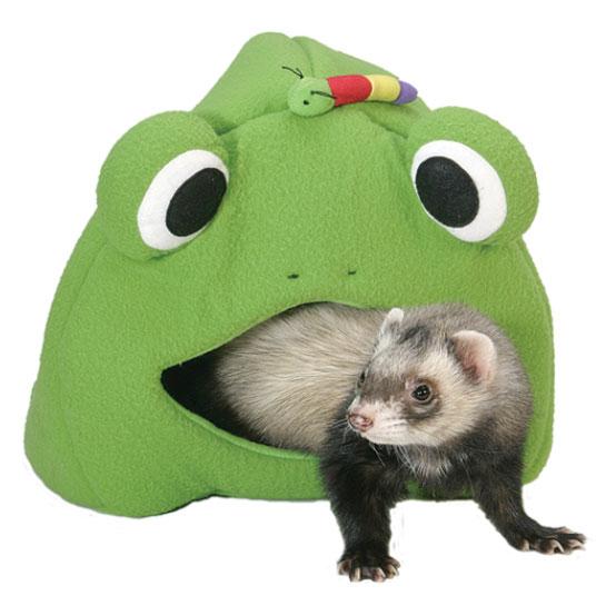 【MarshalPet】アメリカマーシャルペット社フェレットちゃん用ベッド フロッグロッジ【フェレット ベッド マット 暖か 小動物】