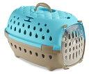 【イタリアStefanplast】イタリアステファンプラスト社製キャリーバッグ トランスポートトラベルチックブルー 【犬小屋 ドッグハウス ケージ バリケンネル キャリーコンテナ】