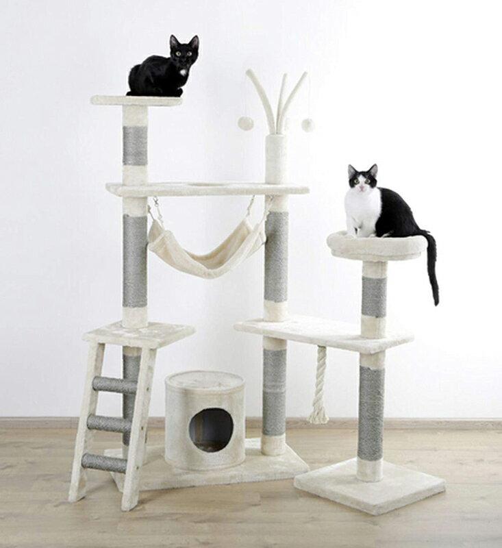 【ドイツKerbl】キャットタワー クリエイティブライト ベージュ 【キャットツリー クローゼット 猫タワー ねこタワー ハンモック 高級】