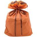 バッグ 巾着袋 オレンジ 特大 1P 幅450×高さ560+マチ120mm 5枚入 50-4663 タカ印紙製品 ササガワ