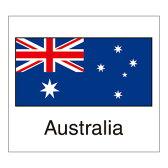 国旗シール(Australia)オーストラリア