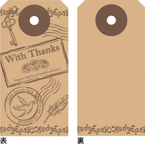 【ゆうパケット対応】POP用品 タグセット アンティーク 縦60×横30mm 30枚入 19-2502 タカ印紙製品 ササガワ