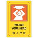 日本緑十字社 英文字入りサイン標識 GB-214 頭上注意 095214