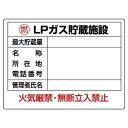【最大1000円OFFクーポン発行中】ユニット UNIT 高圧ガス標識 827−62 LPガス貯蔵施設