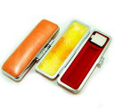 【送料無料】 印鑑ケース パステルカラーケース(オレンジ) 10.5mm用実印|銀行印|認印|個人印鑑|ハンコ|就職祝い|祝い|ギフト|印鑑セット
