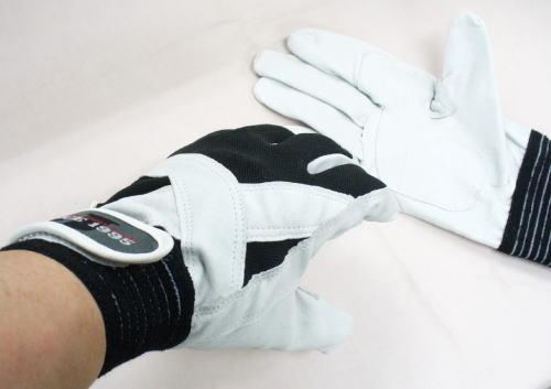 ▲高級豚革作業手袋 クロスウィング10双 JW-820