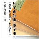手漉き画仙紙 『雷神』全紙 1袋:1色×10枚入漢字用にじみ...