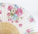 【洋風】【バラ】【薔薇】【ローズ】【夏用シルク扇子】【メール便OK】ファンシー扇子