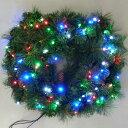 イルミネーション/クリスマスリース/クリスマス/ツリーモチーフ/クリスマスリース ミックス色/LED/コロナ産業/RCP/05P03Sep16/【HLS_DU】