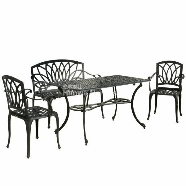G-Style アルカウン ダイニングテーブル 4点セット/ガーデン テーブル/ガーデンフ…...:hanwa-ex:10000878