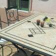 デルタモザイクダイニングテーブル 5点セット(専用クッション付)ガーデンテーブル 5点セット/ガーデンファニチャーセット/ガーデン テーブル/ガーデンチェアー/ダイニングテーブル/庭用/屋外用/天然石テーブルセット/table/set/smtb-k/w-3/RCP/05P03Sep16/【HLS_DU】