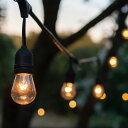 ストリングライト10球/防雨型 連結可能 電球色 クリスマス 結婚式 パーティー電飾 レトロ エジソ...