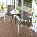 フレスコ ラタンガラステーブル3点セット/ガーデンファニチャーセット/ガーデンテー