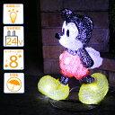 2in1イルミネーション/ローボルトLEDイルミネーション 3Dクリスタルモチーフライト ウォーキングミッキーマウス/コントローラー付き/クリスマス/イルミネー...