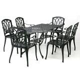 G-Style arukaun dining table 7件套 /庭园家具/庭园家具组套/花园桌组套/花园桌/花园椅子/庭园用铺[G-Style アルカウン ダイニングテーブル 7点セット /ガーデンファニチャー/ガーデンファニチャーセット/ガーデン