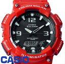 CASIO カシオ SPORTS スポーツ メンズ 腕時計 アナデジ タフソーラー AQ-S810WC-4A レッド 海外モデル hapian ハピアン はぴあん