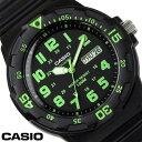 チプカシ 腕時計 アナログ CASIO カシオ チープカシオ メンズ MRW-200H-3B ブラック ブラック グリーン プレゼント ギフト おすすめ 激安 人気