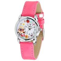 腕時計レディースミニminiキッズ革ベルトブランド個性的可愛いガールズくま熊りんごラインストーン人気プレゼントギフト激安MN2030時計とけいうでどけいWATCH【腕時計】【レディース】【キッズ】