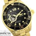 【送料無料】腕時計 メンズ INVICTA インビクタ グランドダイバー 自動巻き 15391 ブラック ゴールド Grand Diver ステンレス ダイバーズウォッチ ブランド 人気 プレゼント 特価 WATCH うでどけい【腕時計】【INVICTA/インビクタ】