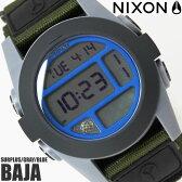【送料無料】ニクソン THE BAJA A4891376 NIXON 腕時計 メンズ バハ ブランド ナイロンベルト ブラック 黒 時計 カーキ グレー ブルー 金属アレルギー対応 プレゼント ギフト 人気 特価 激安 WATCH うでどけい【腕時計】【ニクソン/NIXON】