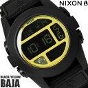 【送料無料】ニクソン THE BAJA A489293 NIXON 腕時計 メンズ バハ ブランド ナイロンベルト ブラック 黒 時計 ブライトピンク デジタル...