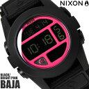 【送料無料】ニクソン THE BAJA A489480 NIXON 腕時計 メンズ バハ ブランド ナイロンベルト ブラック 黒 時計 イエロー デジタル 金属...
