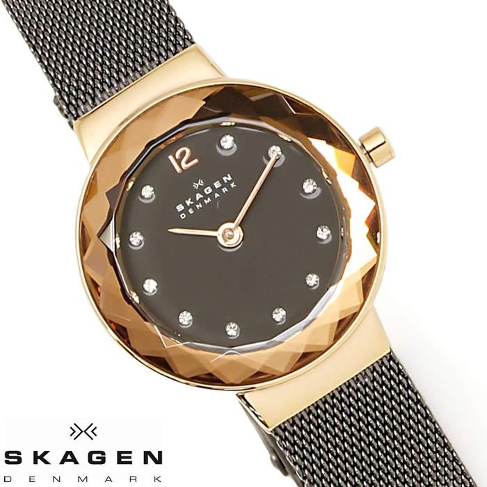 【送料無料】スカーゲン SKAGEN 腕時計 レディース 2針 456SRMメッシュベルト 北欧 ドレスウォッチ ブランド 激安 ラインストーン 細身 ブラック ローズゴールド カットガラス とけい うでどけい 時計 watch tokei udedokei 薄型時計のパイオニア!北欧【デンマーク】が生んだ伝統のブランド フォーマルシーン・スーツにもぴったり♪ラッピング無料