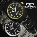 腕時計 メンズ 時計 テクノス 防水 TECHNOS ビジネス TSM208 ブ...