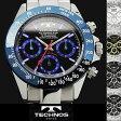 【送料無料】腕時計 メンズ 時計 テクノス 防水 TECHNOS クロノグラフ TSM401 ブランド 激安 ビジネス ステンレス シンプル オフィス タキメーター かっこいい 人気 プレゼント ギフト とけい うでどけい tokei watch【テクノス/TECHNOS】