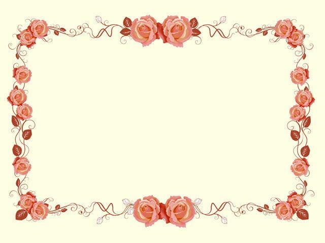 似顔絵用背景 〜表彰状 洋風ピンク色 (横version) 〜  ※ご注意:当店似顔絵のオプション商品です。背景単体ではご注文いただけません!