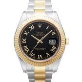 ROLEX デイトジャスト メンズ 腕時計 ブラック 116333