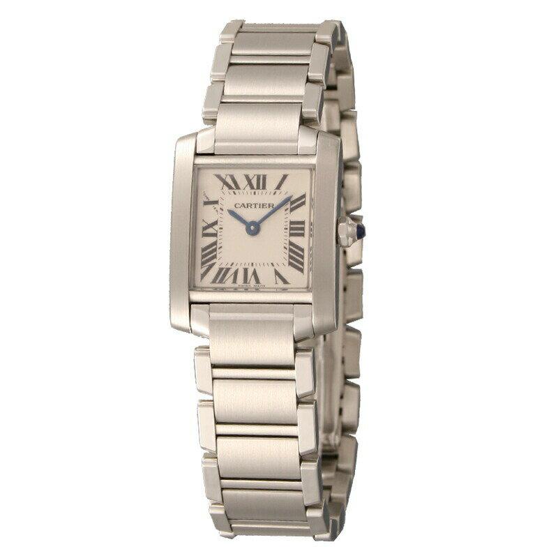 カルティエ Cartier 腕時計 タンクフランセーズ W51008Q3 ホワイト