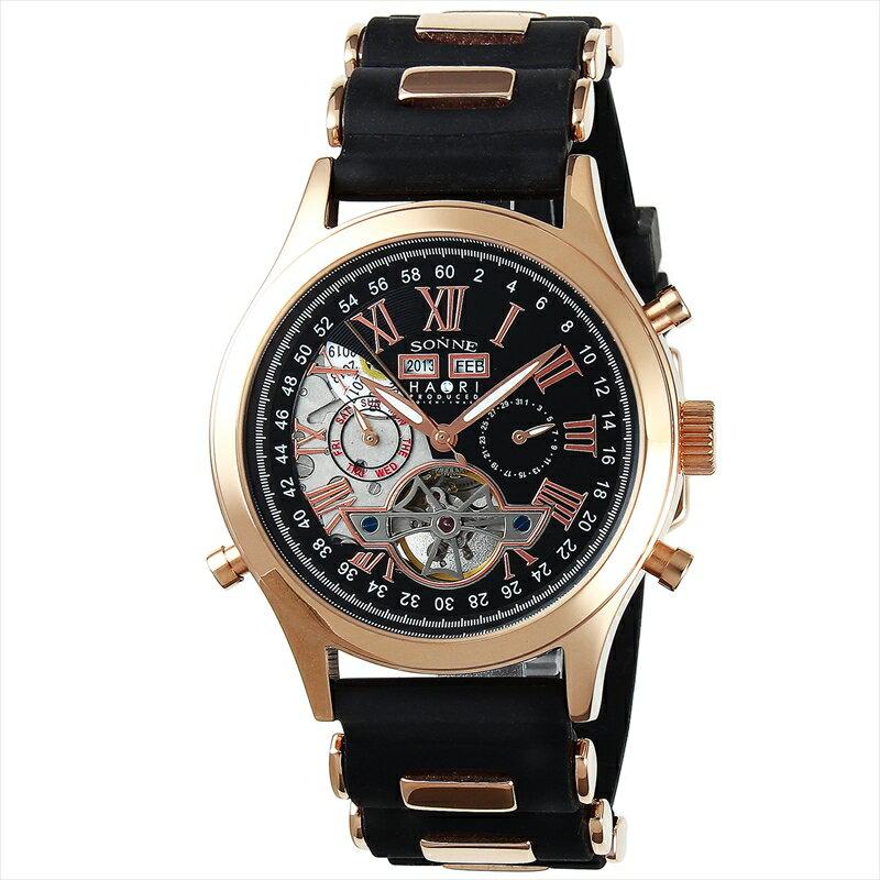 ゾンネ SONNE 腕時計 H003 ブラック H003PG-BK