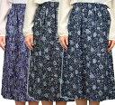 綿揚柳ロングスカート シニアファッション メール便送料無料 ミセス・ハイミセス