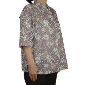 綿カットボイル5分袖ブラウス襟付き【50代・60代・70代・80代】【シニアファッション】【ミセス・ハイミセス】