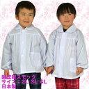園児服スモック2L 3L 4L【大きいサイズ】【保育所】【子供服】【無地】【白】【メール便送料無料】【幼稚園】【長袖】
