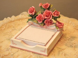 Rose-motif nice ♪ note & pen holder