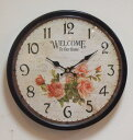 [the wall clock of the free shipping 】★ antique brown ★ rose:] Welcome
