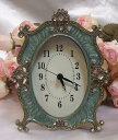 A baroque table clock: Green SS10P03mar13