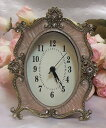 A baroque table clock: Pink SS10P03mar13