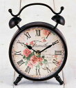 The table clock of the antique brown  rose: Welcome