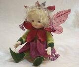 【】若月まり子 お花の妖精人形♪リトルエルフィン:フュッシャ(パープル)ビスクドール 妖精 フラワーフェアリー 陶器 お人形 ギフト お祝い 記念品 陶器 【HLSDU】