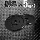 〈1年保証〉ダンベル バーベル 用 プレート 5kg 2個セット ブラックアイアン 追加プレート 追加 ダンベルプレート バーベルシャフト 用 アイアンダンベル 筋トレ トレーニング 重り 交換 パーツ カスタマイズ オプション 計10kg[送料無料]