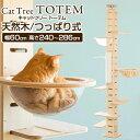 〈1年保証〉キャットタワー 突っ張り 全高240~286cm 運動不足 猫ちゃん TOTEM 木製 家
